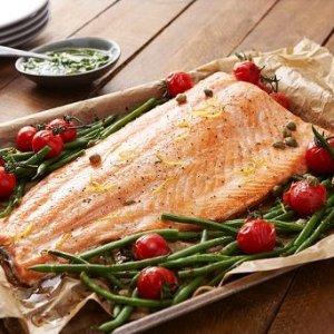 现价£7.5(原价£15)三文鱼 1公斤装