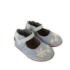 RobeezPretty in Blue Baby Shoes, Soft Soles