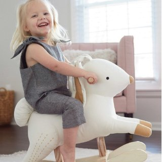 低至2.5折 + 额外7.5折 封面摇摇马仅$26Hallmark Baby 全站儿童服饰、玩具等大促