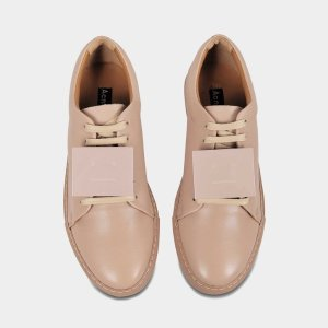 Acne StudiosADRIANA TURN UP SNEAKERS IN DUSTY PINK CALF