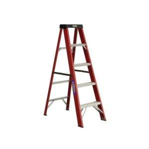 Werner 5-ft Fiberglass Type 2 - 225 lbs. Capacity Step Ladder