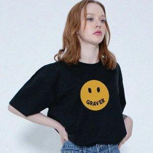 4折起 £45收蝴蝶T恤GRAVER 笑脸潮牌闪促 春夏小蝴蝶、笑脸、小花花元素上线