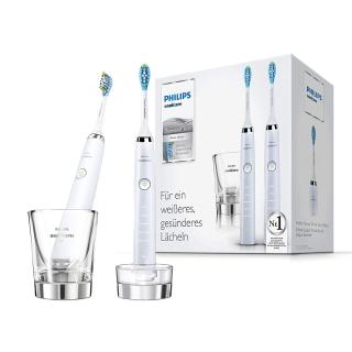 低至¥1372 黑白二色可选Philips 新一代钻石电动牙刷 带充电玻璃杯 2支组合装