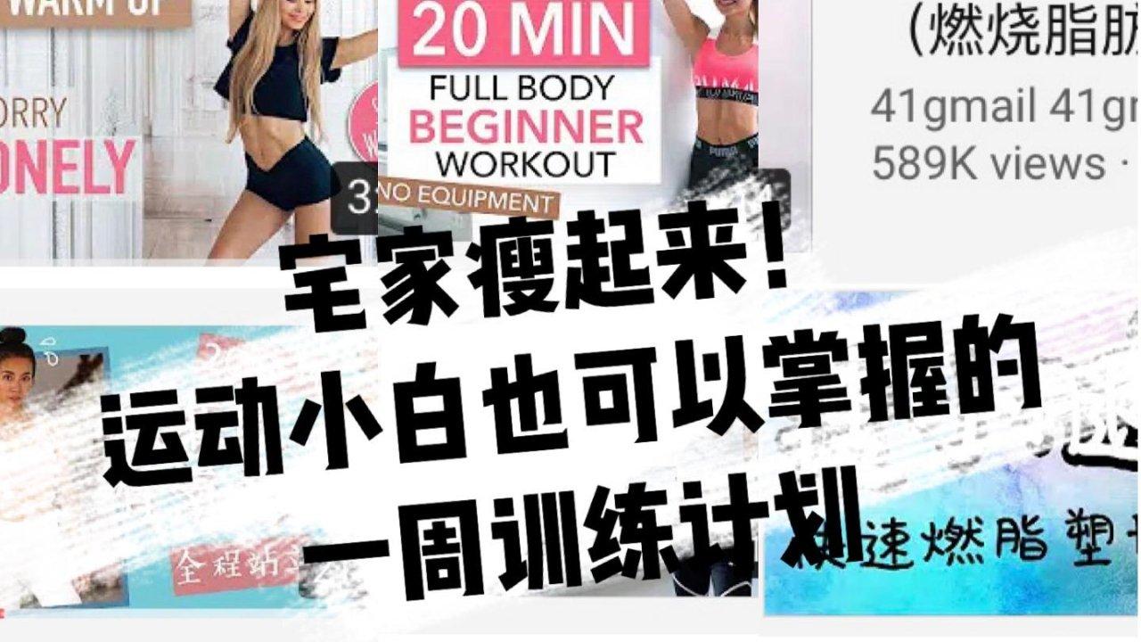 {入门篇}Home Workout Plan健身小白也无压力的7天居家健身训练计划