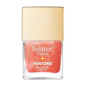 Butter LondonLiving Coral Glazen Peel Off Glitter Nail Polish