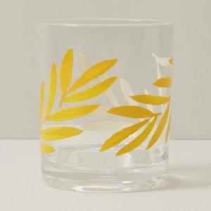 Oui树叶玻璃杯