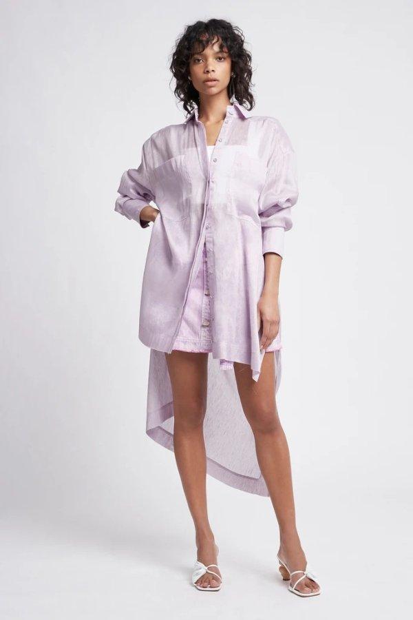Semblance紫色长款衬衣