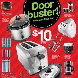 $10 each Select Kitchen Appliances @ Target