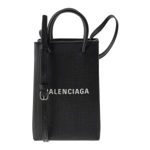 BalenciagaBlack Phone Holder Shopping Bag