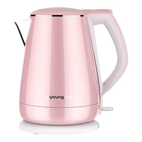 公主系列 双层不锈钢电热水壶 #粉红色 1.5L
