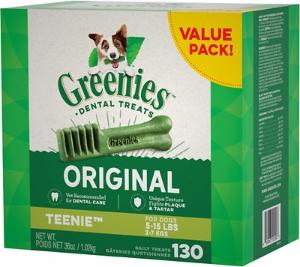 Greenies Teenie Dental Dog Treats @ Chewy