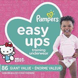 PampersEasy Ups 女宝宝训练裤6号86个装