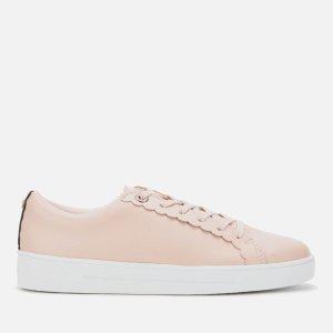 Ted Baker嫩粉色运动鞋