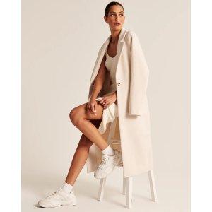 Abercrombie & FitchWomen's Calf-Length Wool-Blend Coat | Women's Clearance | Abercrombie.com