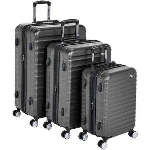 $64.99白菜价:AmazonBasics 精选硬壳行李箱3件套  多色可选