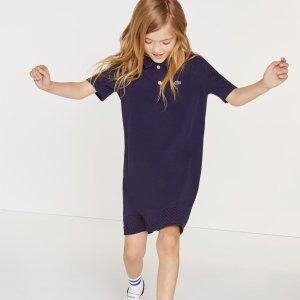 LacosteGirls' Paneled Cotton Polo Dress