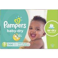 Baby Dry 3号尿不湿144片