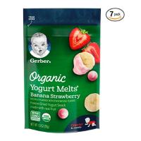 Gerber 有机酸奶溶豆 香蕉草莓口味1 盎司/袋 共7袋
