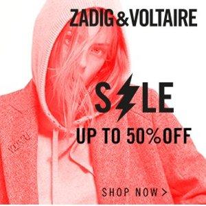低至5折 €175起收毛衣网络星期一:Zadig & Voltaire 黑五全场大促 收秋冬款美衣美包