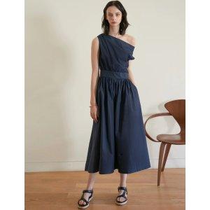 Pixie MarketNavy One Shoulder Dress