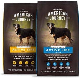首单5折 $20收28磅装American Journey Active Life 系列狗粮热卖