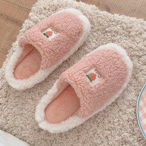 粉嫩蜜桃拖鞋