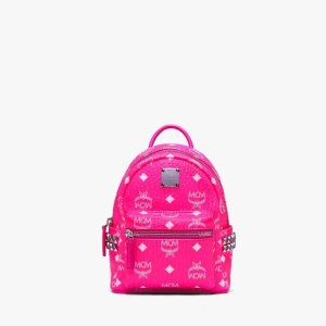 MCMStark Bebe Boo Backpack in Neon Visetos