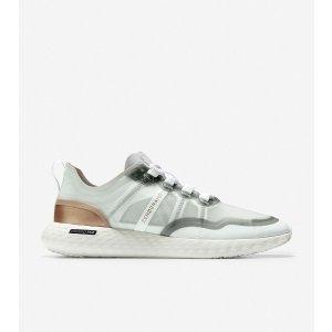 Cole HaanWomen's ZEROGRAND Outpace Running Shoe in Optic White-Rose Gold Metallic | Cole Haan