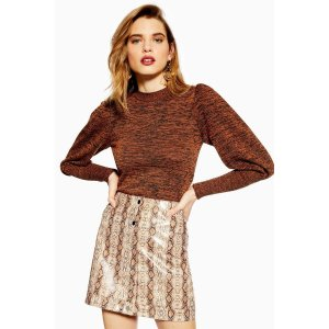 TopshopBlouson Sleeve Knitted Top