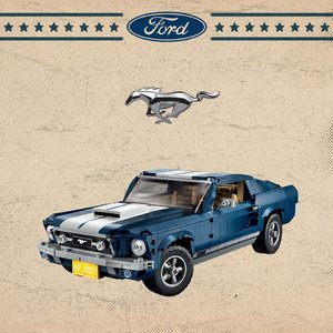 已发售 VIP赠钥匙链新品上市:老爷车迷看过来 Lego 1967 Ford Mustang 元祖版野马