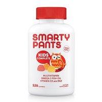 SmartyPants Gummy Vitamins 非转基因每日复合维生素儿童款,添加Omega 3,维生素D3和B12,120粒