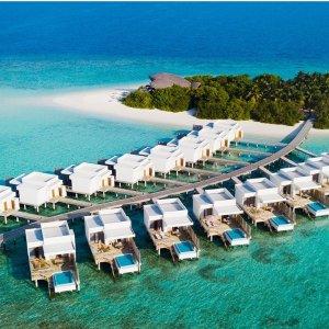 低至5.2折,海滩别墅$579.8/晚马尔代夫 福布斯上榜全包型度假村2人5晚住宿促销 可全额退款