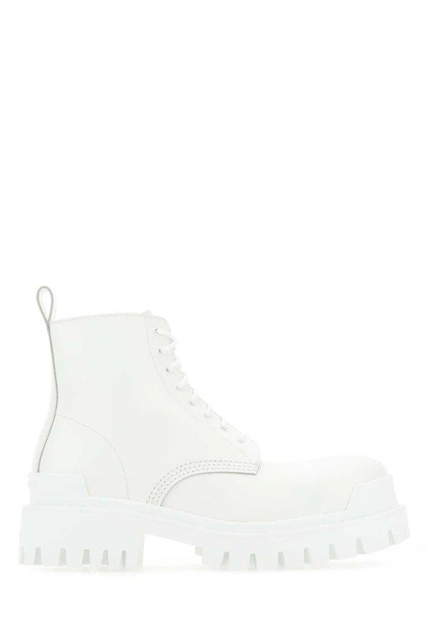Strike白色马丁靴