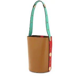 MarniPUNCH LEATHER BUCKET BAG