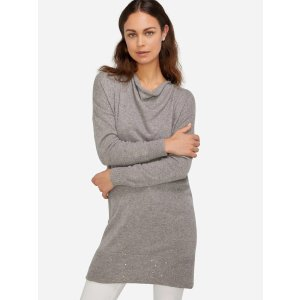 Long Sleeve Cowl Neck Cashmere Dress