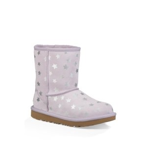 UGG(R) Classic Short II Water Resistant Stars Genuine Sheepskin Boot (Toddler)