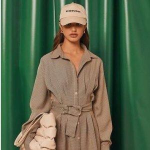 无门槛5.5折Missguided 早秋上新 封面衬衫裙$24,Playboy联名卫衣$16