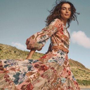 低至2折+额外8.5折 泰勒爱牌Zimmermann 仙裙大促 丝绸连衣裙$123、丝巾短袖$139