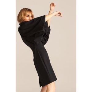 灯笼袖连衣裙