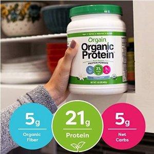 30% OffOrgain Organic Plant Based Protein Powder, Vanilla Bean, 2.03 Pound