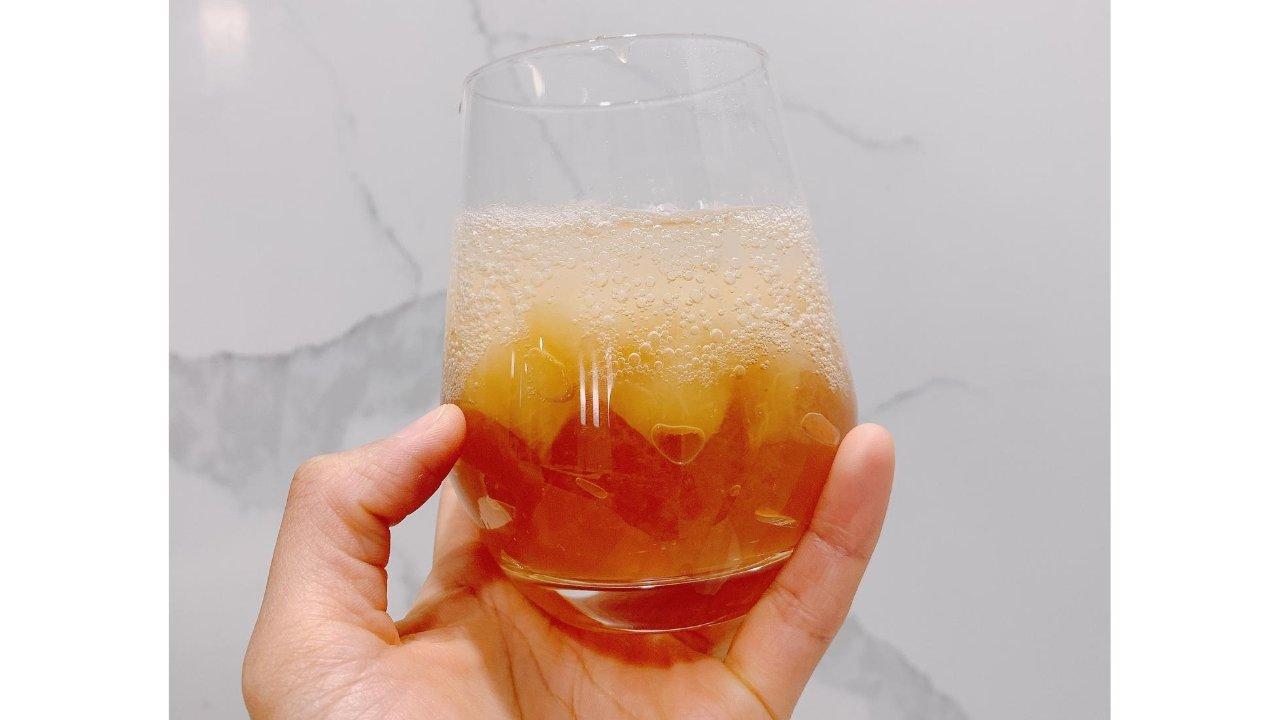 🍑水蜜桃凉粉气泡水🥤