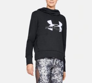 Under Armour 女士UA Rival Fleece Logo连帽上衣