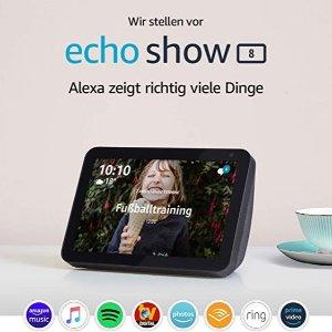 即将截止:Echo Show 8 智能显示器 黑五6.9折特价 带Alexa语音助手的智能屏幕