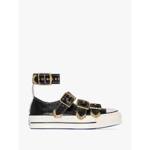 Y/ProjectX Koche black Chuck Taylor All Star Mary Jane leather sneakers