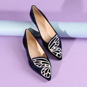 再降 低至4.1折 平底鞋$287Sophia Webster 浪漫蝴蝶系美鞋清仓特卖