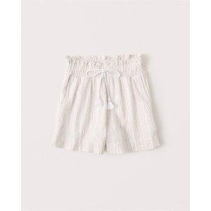 Abercrombie & Fitch亚麻短裤