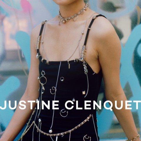 全场8.5折 吊坠耳环$68Justine Clenquet 极光方钻手链$97 收欧阳娜娜同款Tara耳环