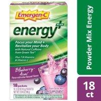 Emergen-C 维生素C+能量饮 蓝莓口味 250mg 18包