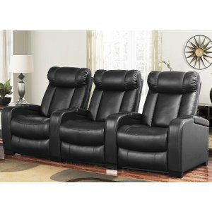 $999Larson Leather Reclining Home Theater Seating