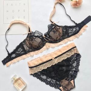 一套$69+免邮 新款上市Eve's temptation 新款蕾丝内衣热卖,高级蕾丝的舒适体验